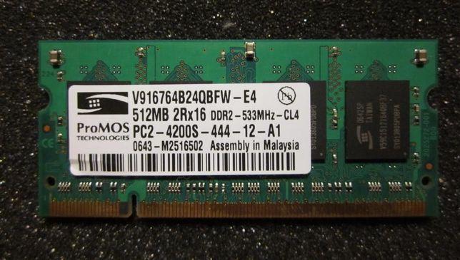 Модуль памяти ProMOS DDR2 512 Mb для ноутбука.