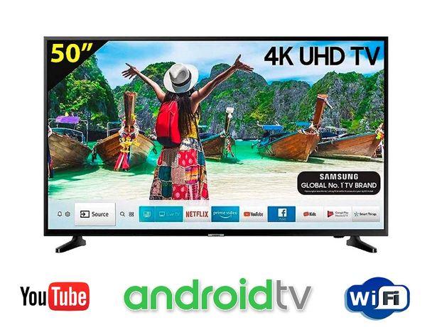 Телевизоры Samsung Smart TV 50 дюймов, Android, WiFi, DVB-T2