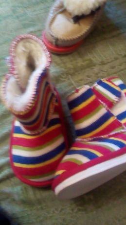 Сапожки текстиль новые