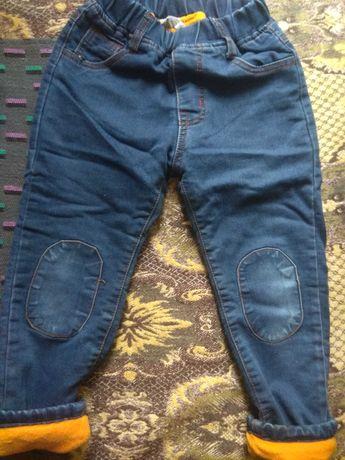 Штаны джинсы на флисе