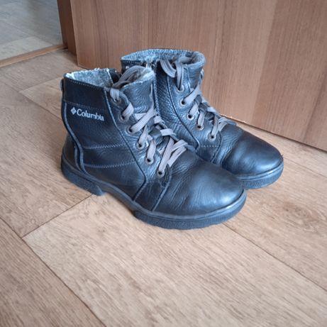 Продам зимние ботинки (кожа)34 р.