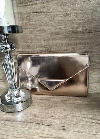 Złota torebka, kopertówka, błyszcząca, lustrzana, Reserved!