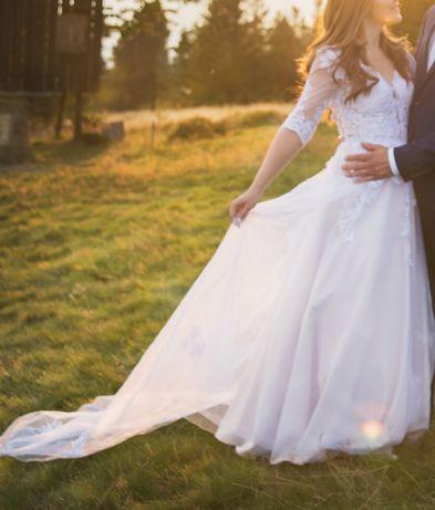 Suknia ślubna rozm. 38 model a'la Fatima firmy F&Ż