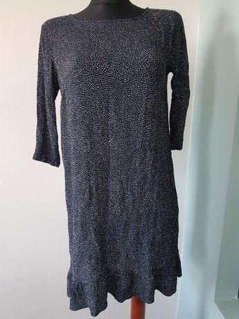 sukienka w groszki M z falbanką