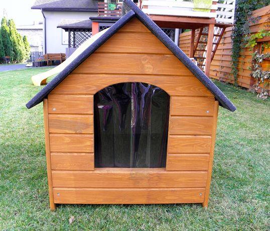 Buda dla psa ocieplona uchylny dach