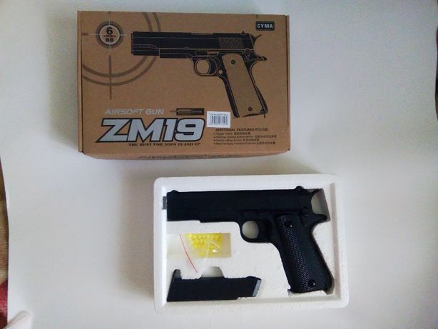 Пистолет для игр мальчику ZM 19 с пульками. Новый