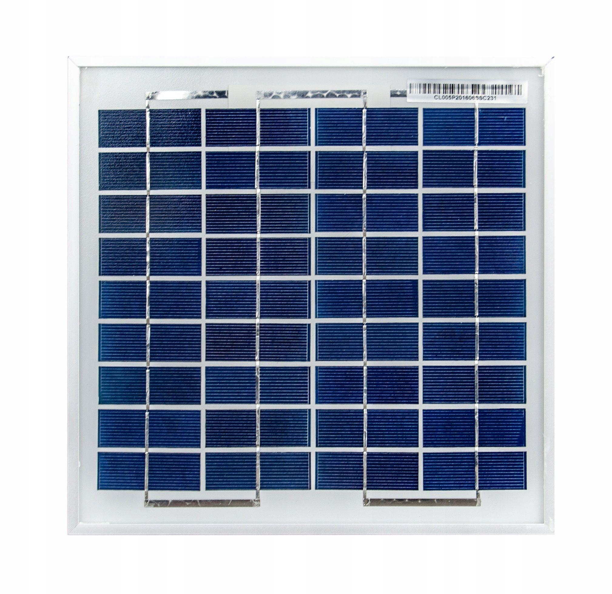 Panele fotowoltaiczne solarne bateria słoneczna 5W 12V solar (SOL47)