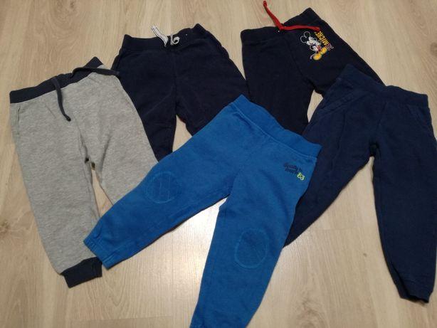 Zestaw spodnie dresowe, kamizelki, bluzy dla chłopca, rozmiar 86-92.