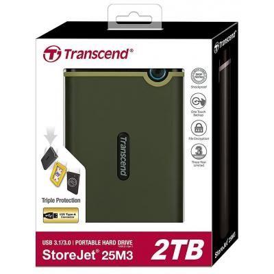"""Зовнішній жорсткий диск 2.5"""" 2TB Transcend (TS2TSJ25M3G)"""