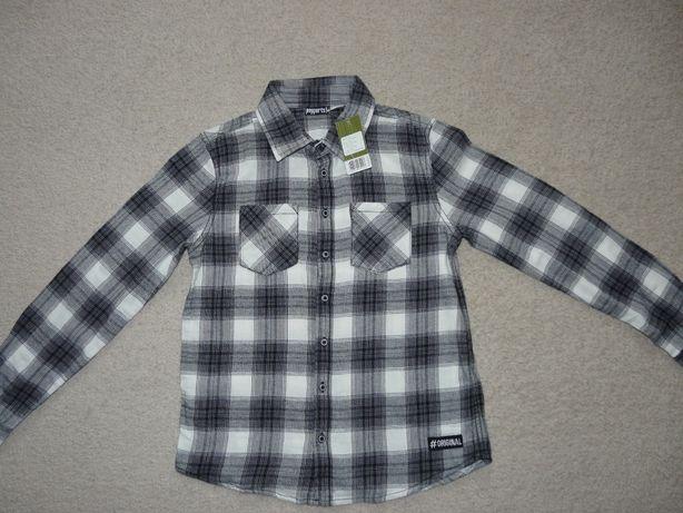 koszula r.152 NOWA z metką w kratę, kratkę hit sezonu z długim rękawem