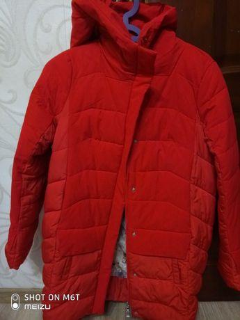 Куртка пуховик червона REERCAT