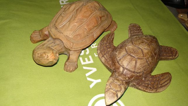 ручная работа дерево черепахи две ГРЕЦИЯ фигурка статуэтка сувенир