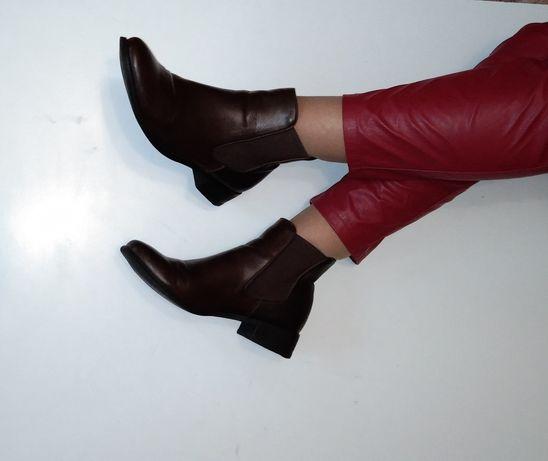 Кожаные челси ботинки 40 р