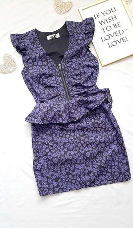 Леопардове плаття OASIS баска р. XS-S