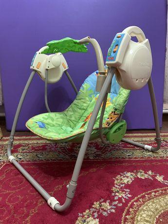 Портативное кресло качалка Джунгли Fisher Price для новорожденных