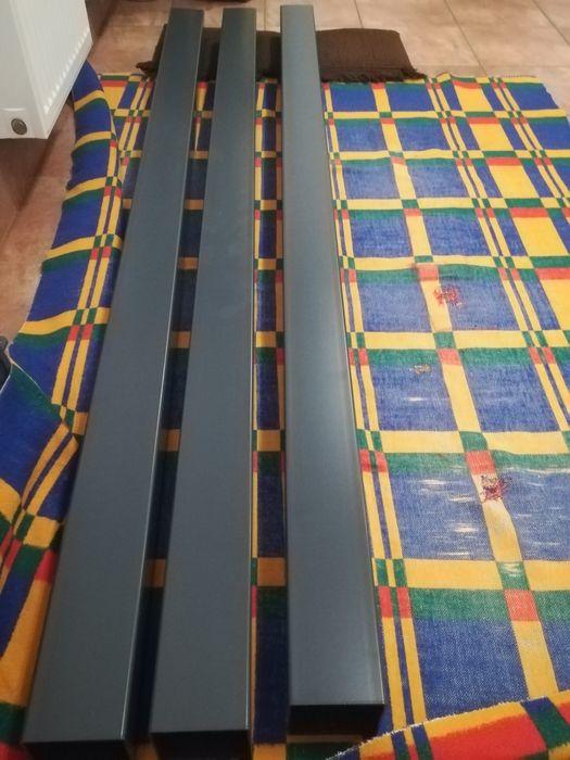 Sprzedam 3 słupy 100x100 ścianka 3 mm, ocynkowane, kolor antracyt. Bytom - image 1