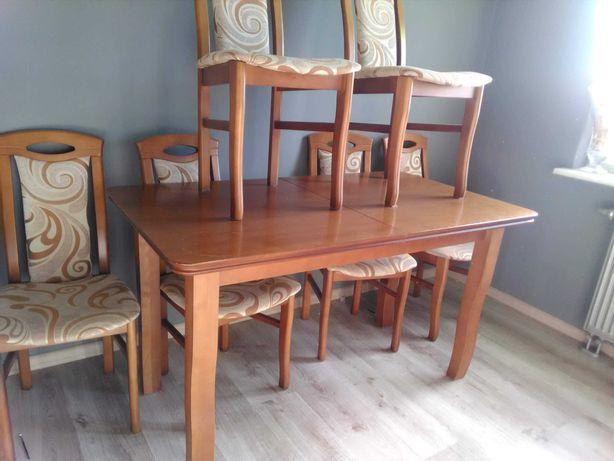 Stół i krzesła drewno