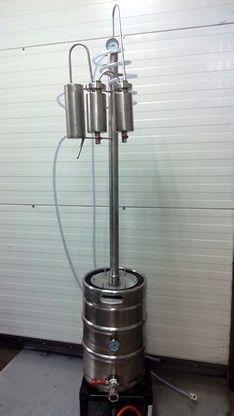Destylator 50 l płaszcz olejowy WLEW 220 MM