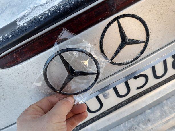 Mercedes logo emblemat znaczek gwiazda czarny połysk W211 W212
