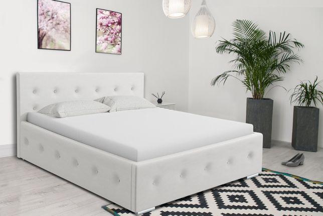 Łóżko tapicerowane 160x200 pojemnik na pościel, łóżko sypialniane