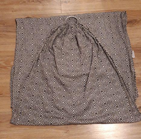 Żakardowa chusta kółkowa LF- czarny cube