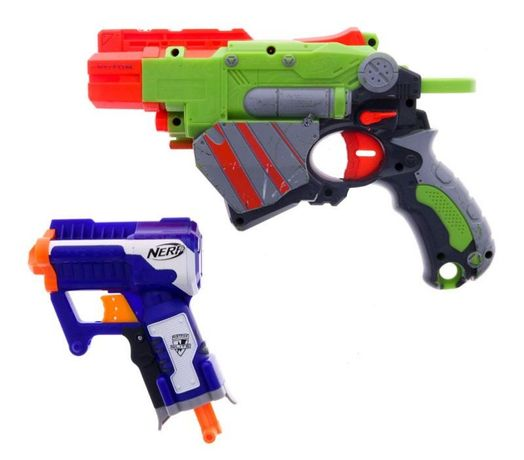2 pistolas Nerf e balas
