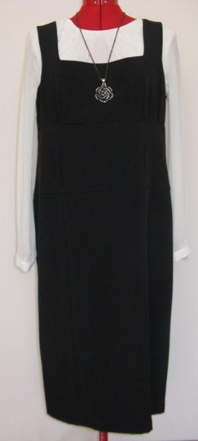 Czarna sukienka wesele/kolacja/święta/andrzejki rozm. 44 (XXL)