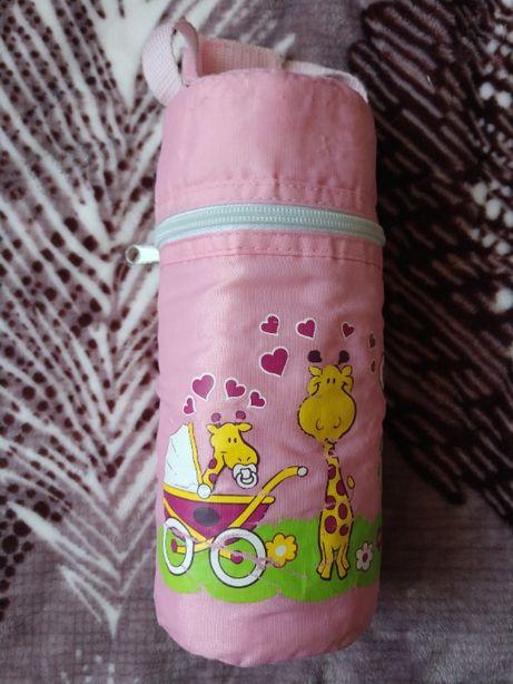 Термосумка детская для бутылочек розовая BabyNova