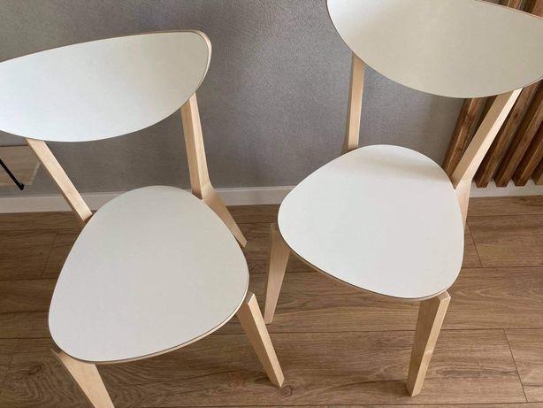2 drewniane krzesła IKEA Nordmyra