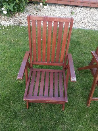 Krzesła ogrodowe drewniane w stanie dobrym