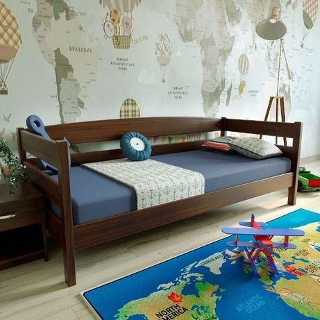 """Ліжко односпальне """"Лев"""" 900*2000 натуральне дерево"""