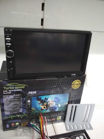 Автомагнитола Pioneer 7018 2DIN Экран 7 дюймов USB+SD+BT+FМ.Два пульта
