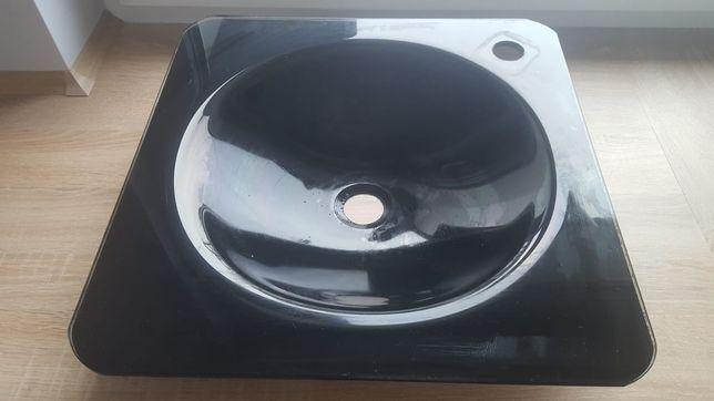 Umywalka szklana czarna