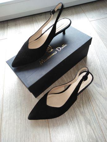 Skórzane buty w idealnym stanie Massimo Dutti