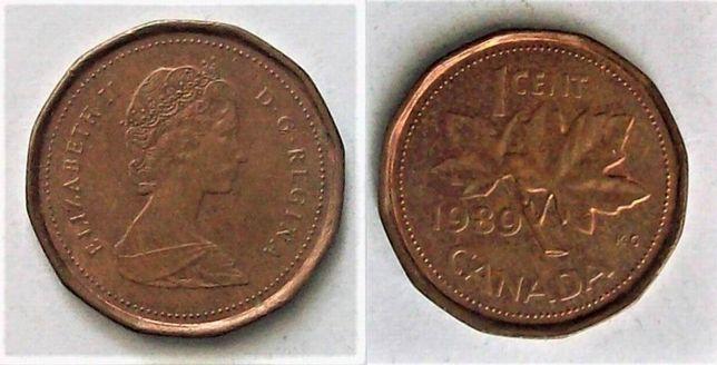 Kanada 1 cent rok 1989