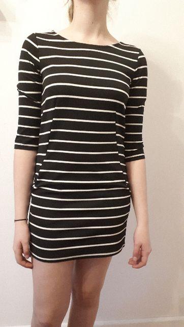 SINSAY sukienka czarno biała S