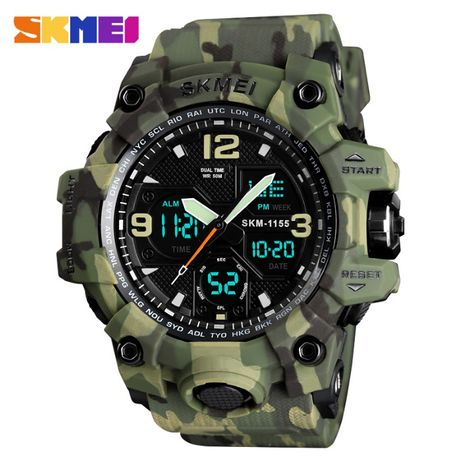 Для бойцов ! - Skmei 1155B - противоударные мужские наручные часы