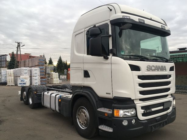 Scania HIGHLINE/ G410/E6 /3oś /J. Nowa/FULL AIR/Do Zabudowy/HDS/