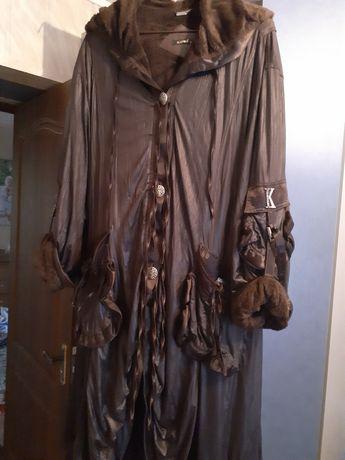 Женский плащ-пальто на меху
