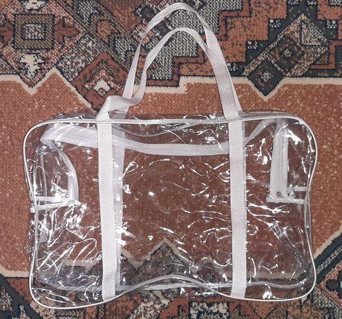 Прозора сумка в пологовий XL / прозрачная сумка в роддом