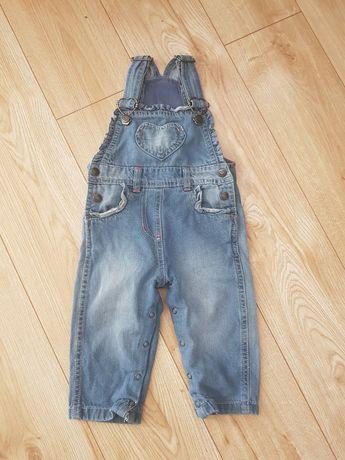 Ogrodniczki jeansowe - rozmiar 74 - stan idealny