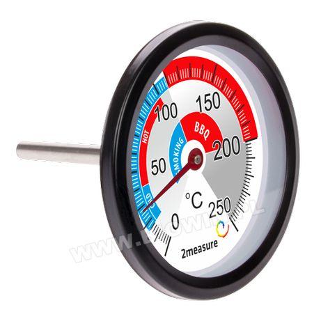 Большой термометр 0.+250°С для коптильни , мангала, барбекю