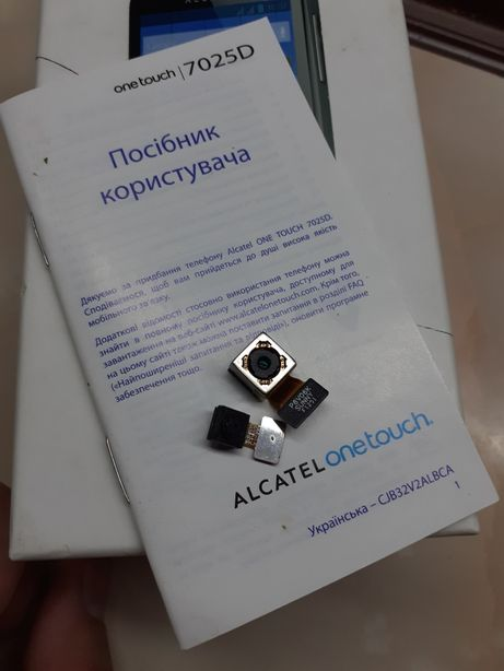 Основная и фронтальная камера Alcatel One Touch 7025D