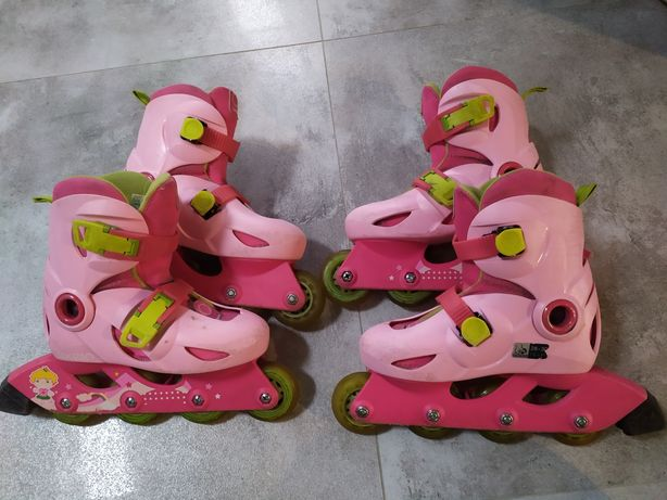 Rolki dla bliźniaczek róż 28-30