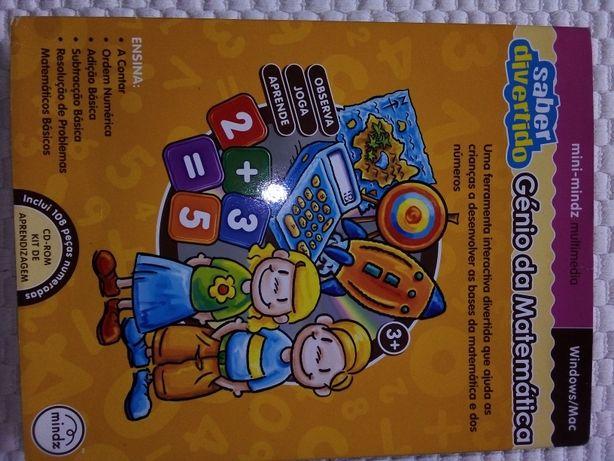 Jogo interactivo com CD Génio da Matemática criança