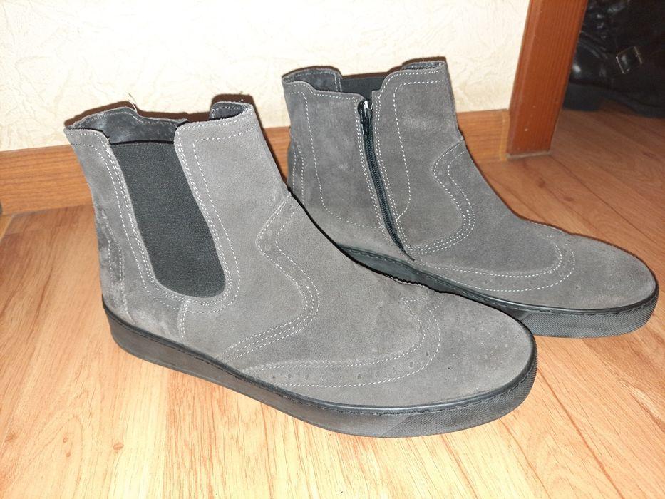 Ботинки замш натуральный 42р Кременчуг - изображение 1
