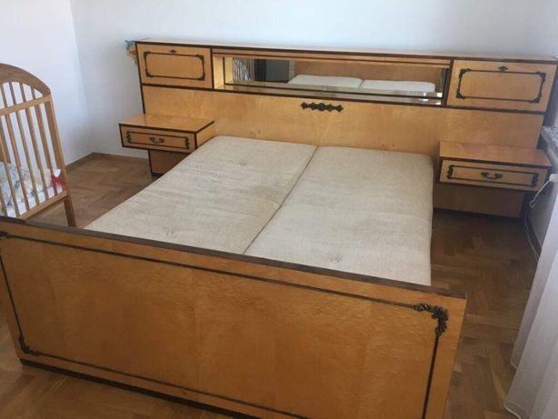 Sypialnia drewno lite lakierowana stan idealny !! Antyk !!