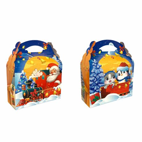 Новогодняя коробка для подарков конфет до 1,1кг
