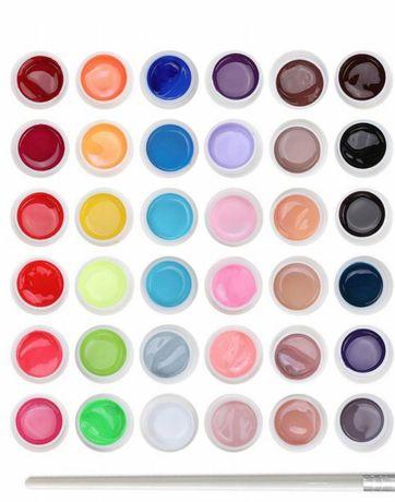 Zestaw do stylizacji paznokci manicure  uv farbki paznokci