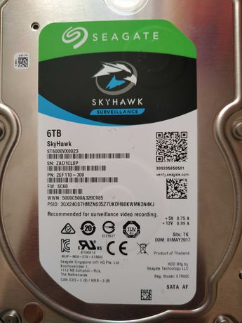 Жёсткий диск для видеонаблюдения hdd 6tb Seagate.